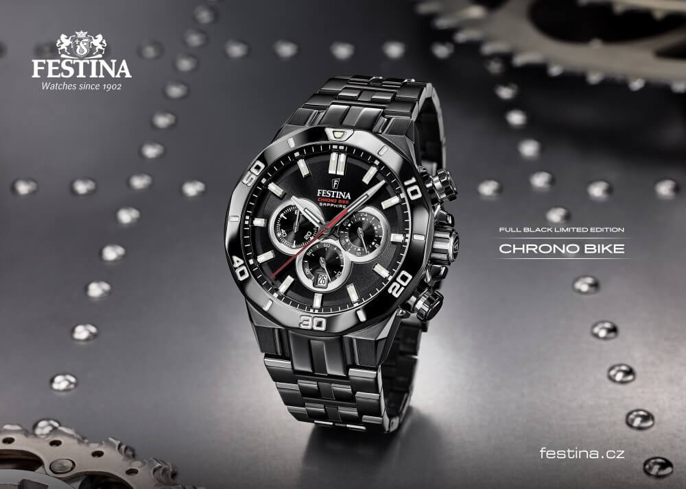 Limitovaná edice hodinek Chrono Bike Full Black